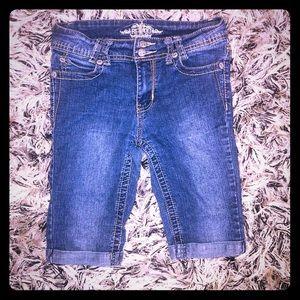 🔥5/$30 Girls Sz14 Revolt Denim Jean Short Bermuda